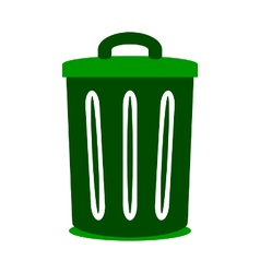 Garbage symbol icon on white vector image vector image