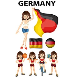Germany representative and many sports vector image vector image