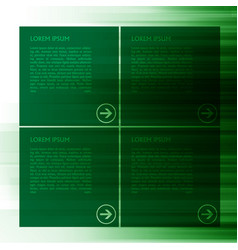 green template for web vector image vector image
