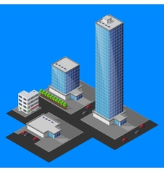 isometric cityscape vector image vector image
