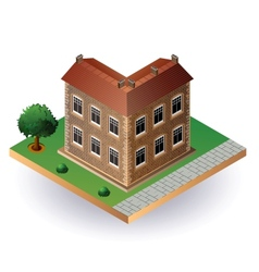 Isometric vintage house vector image