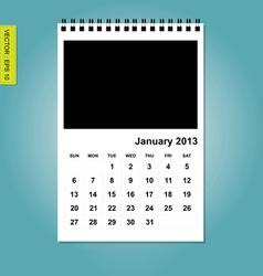 January 2013 calendar vector image