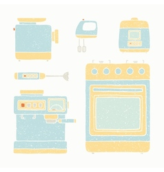 Kitchen appliances set vector image