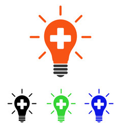 medical electric lamp flat icon vector image