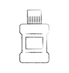 Mouthwash bottle isolated icon vector