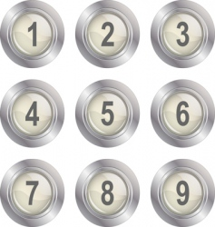 number buttons vector image