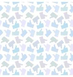 Seamless pattern light thumb up icons vector