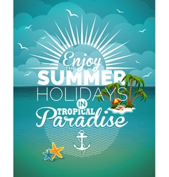 summer holiday on seascape background vector image vector image