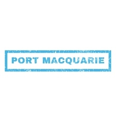 Port macquarie rubber stamp vector
