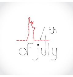 4th july theme vector
