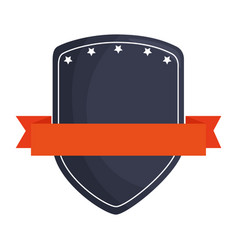 Shield with ribbon isolated icon vector