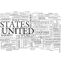 America the dictatorship text word cloud concept vector