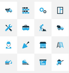 Industry colorful icons set collection of case vector