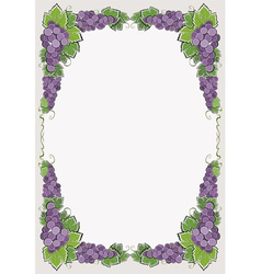 Border with dark grape vector