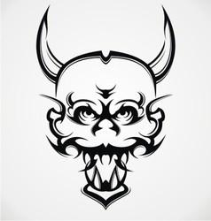 Demon face tattoo design vector