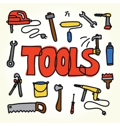 Workshop tools set vector