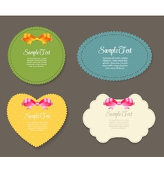 Design retro label frame with bow vector
