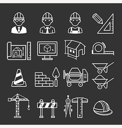 Architecture construction building icon set vector