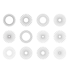 Set of geometric hipster shapes 9y vector