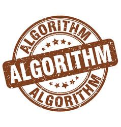 Algorithm brown grunge stamp vector