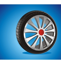 alloy wheels vector image vector image
