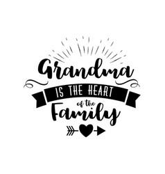 best grandma handwritten in black vector image vector image