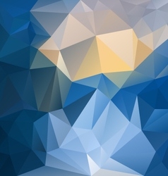 blue yellow sapphire polygon triangular pattern vector image vector image