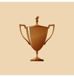 Bronze cup of winner vector
