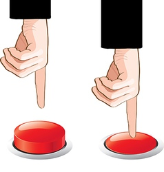 button and hands vector image vector image