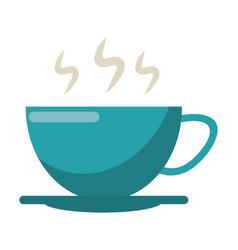 Cup of coffee smoke hot vector