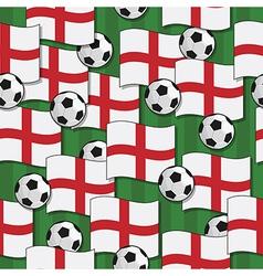 england football pattern vector image vector image