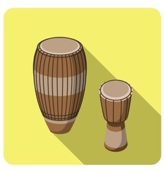 Flat icon musical instrument tam-tam vector image