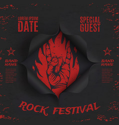 Grunge rock festival background template vector