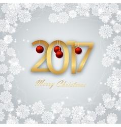 Happy new year 2017 christmas card vector