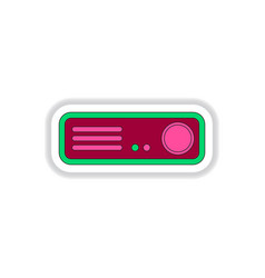 In paper sticker style home vector