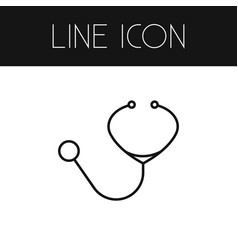 isolated stethoscope outline doctor tool vector image vector image