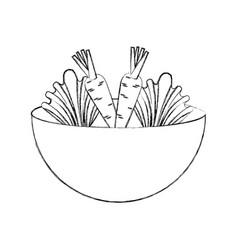 Kitchen vessel with vegetables vector