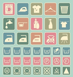 laundry and washing icon vector image vector image