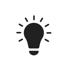 lightbulb ideas flat icon vector image