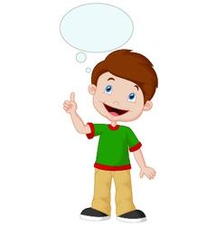 Little boy with big idea vector image vector image