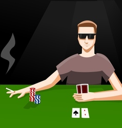 Playing poker vector image