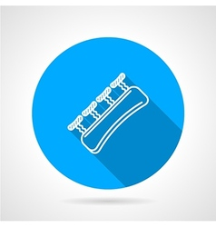 Round blue icon for gripping finger vector
