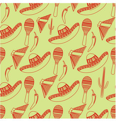 seamless pattern of mexico vector image
