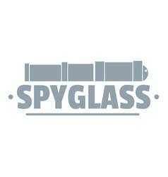 Spyglass logo simple gray style vector