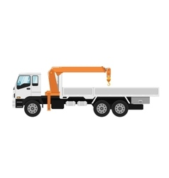 Truck mounted crane isolated on white background vector image