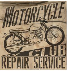 Vintage motorcycle setskull riders motorbike set vector