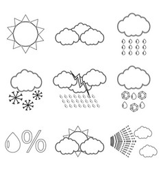 Weather icon set linear vector