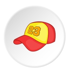 Baseball hat icon cartoon style vector