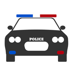 police car elements of the police equipment vector image