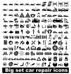 Big set car repair icons vector image